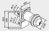 【0705575】ノーリツ 給湯器 関連部材 給排気トップ(2重管方式及び2本管方式) WTG-100A(D) 300C