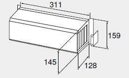 【0705741】ノーリツ 給湯器 関連部材 側方排気カバー 側方排気カバーS29