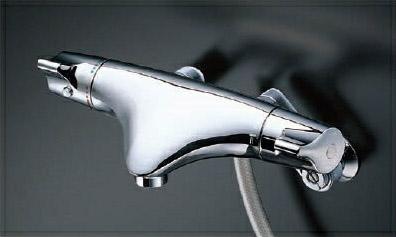 TOTO 浴室用水栓金具【TMNW40JCR】 サーモスタットシャワー金具/壁付きタイプ シャワーヘッド:ワンダービートめっき