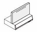 リクシル・サンウェーブ レンジフード 別売部品 RVJシリーズ用金属幕板 間口90cm シルバー 高さ70cm用【RFP-9-500FSI】[新品]