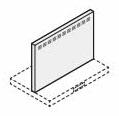 リクシル・サンウェーブ レンジフード 別売部品 ADRシリーズ用金属幕板 間口90cm ホワイト 高さ60cm用 RFP-9-530AW INAX