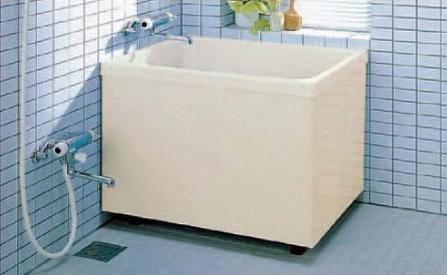INAX 浴槽 バスタブ ポリ浴槽 【PB-902B(BF)L】【PB-902B(BF)R】バランス釜取付用(穴あけ済) ポリエック お風呂 900サイズ 和風タイプ 2方全エプロン【代引き不可】