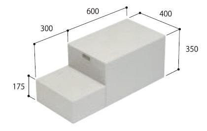 城東テクノ ハウスステップ 【CUB-8060-A2】 小ステップなし 収納庫なし [新品]