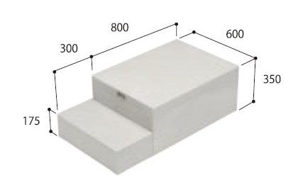 城東テクノ ハウスステップ 【CUB-8060】 小ステップあり 収納庫なし [新品]
