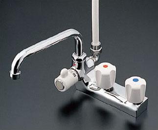 TOTO 浴室用水栓金具【TM116CR】 2ハンドルシャワー金具/台付きタイプ 鉛低減