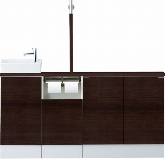 INAX LIXIL リクシル トイレ手洗 キャパシア YN-AKLEAEKXHEC YNAKLEAEKXHEC フルキャビネットプラン 左仕様 床壁共通給水 床排水 [メーカー直送][][後払い決済]