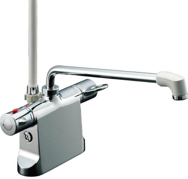 ビーフィット【BFB646TSCW300A100】 浴室用水栓金具 デッキ水栓 INAX シャワーバス水栓デッキ・シャワータイプ シャワーヘッド BF-B646TSCW(300)-A100 LIXIL・リクシル