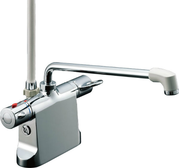 INAX LIXIL リクシル 浴室用水栓金具 シャワーバス水栓デッキ・シャワータイプ サーモスタット付シャワーバス水栓 エコフルスプレーシャワー ビーフィットBF-B646TNSD (300) -A100 BFB646TNSD300A100