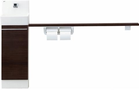 手洗い器 セット 手洗い器セット 寒冷地 壁給水 壁排水 コフレル 寒冷地 YL-DA82SKH12C-N 壁給水 壁排水 トイレ手洗 スリム (壁付) ハンドル水栓 カウンター キャビネットタイプ (左右共通) YLDA82SKH12CN LIXIL リクシル INAX イナックス 手洗い器 トイレ[メーカー直送][代引不可]