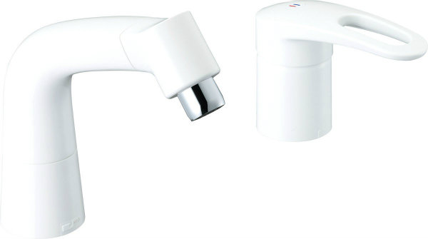 INAX LIXIL リクシル 水栓金具 湯側開度規制付水栓金具・高温出湯防止機能付水栓金具 シングルレバー混合水栓 (湯側開度規制付) LF-HX360SRNHK (500) /BW1 LFHX360SRNHK500BW1
