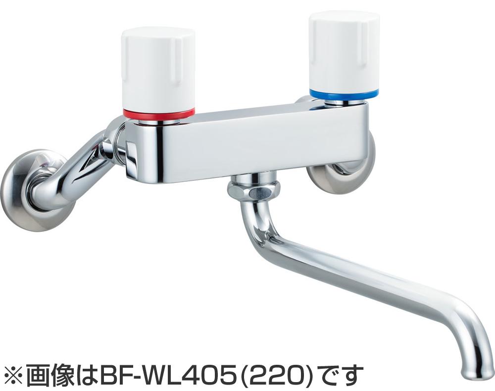 BF-WL405N (220) INAX イナックス LIXIL リクシル キッチン用水栓金具 壁付タイプ 2ハンドル ノルマーレS 寒冷地対応商品 (水抜式)