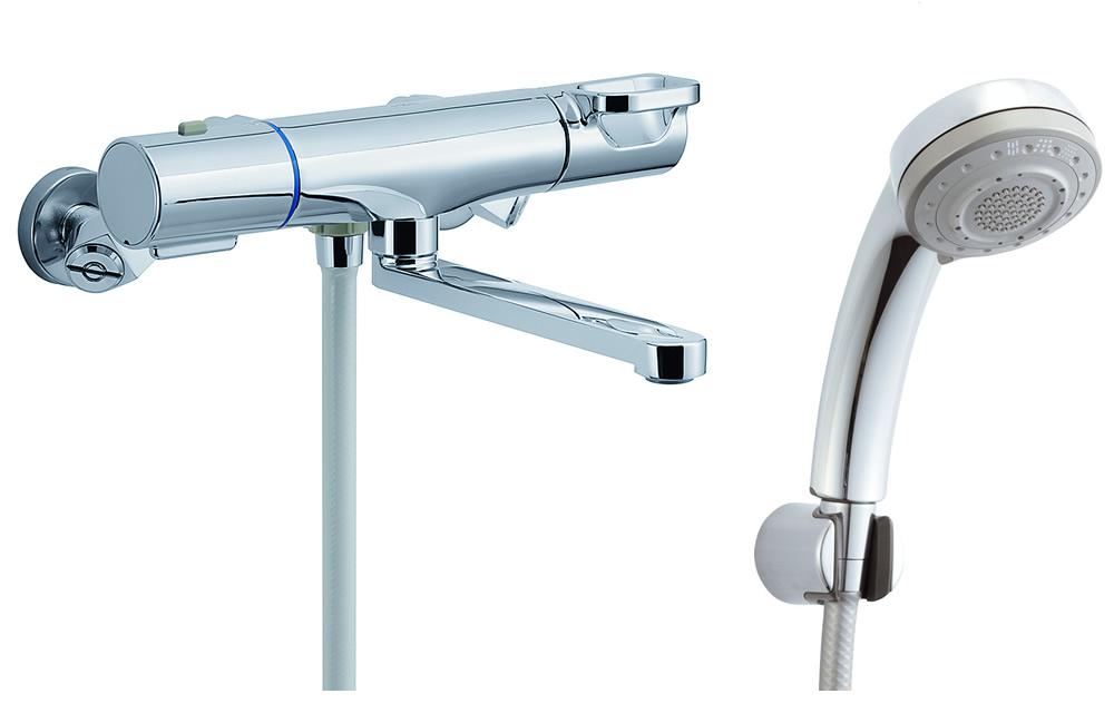 【BF-WM145TSB】 INAX・LIXIL 浴室用水栓金具 サーモスタット付シャワーバス水栓 浴槽・洗い場兼用 エコフル多機能シャワー クロマーレS 【BFWM145TSB】