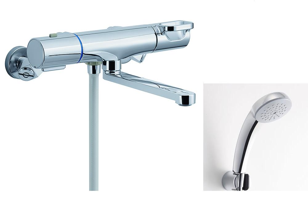 【BF-WM145TSC】 INAX・LIXIL 浴室用水栓金具 サーモスタット付シャワーバス水栓 浴槽・洗い場兼用 エコフルスプレーシャワー(メッキ仕様) クロマーレS 【BFWM145TSC】