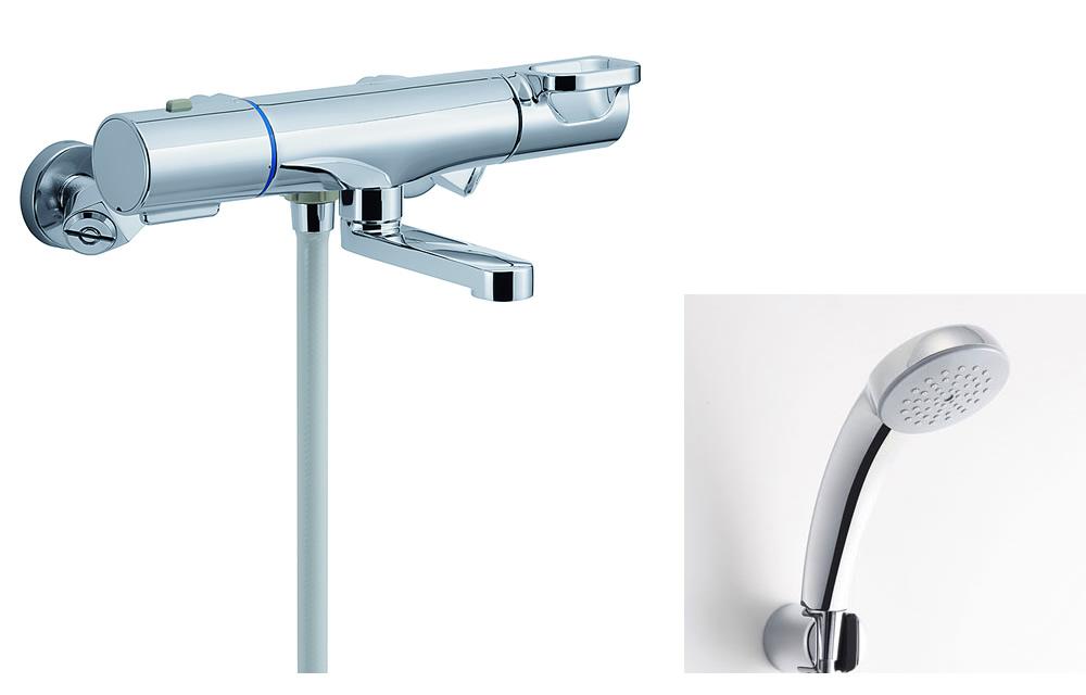 【BF-WM147TSC】 INAX・LIXIL 浴室用水栓金具 サーモスタット付シャワーバス水栓 洗い場専用 エコフルスプレーシャワー(メッキ仕様) クロマーレS 【BFWM147TSC】