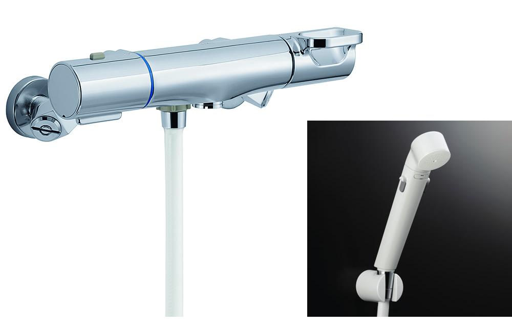 【BF-WM247TSDW】 INAX・LIXIL 浴室用水栓金具 サーモスタット付シャワー水栓ト(シャワー専用) エコフルスイッチシャワー クロマーレS 【BFWM247TSDW】