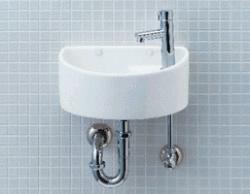 【トイレ手洗い器一式セット】YAWL-33(P) INAX イナックス LIXIL・リクシル 狭小手洗いシリーズ 壁排水・壁給水(Pトラップ)汚れが付きにくいアクアセラミック仕様 【YAWL-33P】