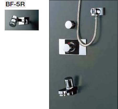 INAX・LIXIL シャワーバスセット セット品番【BF-222TD】(シャワーヘッド【BF-5R】/湯水混合栓【BF-25T】/止水栓【BF-2S-13】/吐水口【BF-21H-19】) 水栓金具