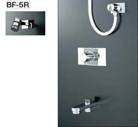 INAX・LIXIL シャワーバスセット セット品番【BF-216MD】(シャワーヘッド【BF-5R】/湯水混合栓【BF-22M】/止水栓不要/吐水口【BF-21A-19】) 水栓金具