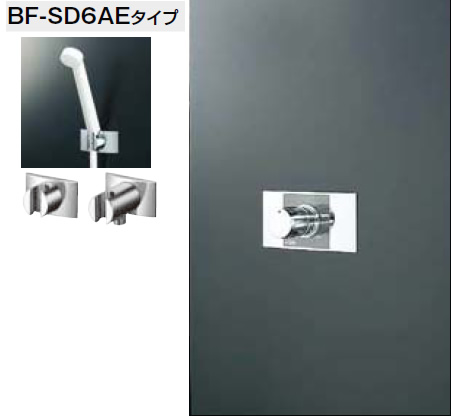 INAX・LIXIL シャワーセット セット品番【BF-111MSD】(シャワーヘッド【BF-SD6AEタイプ】/湯水混合栓【BF-22MP】/止水栓不要) 水栓金具