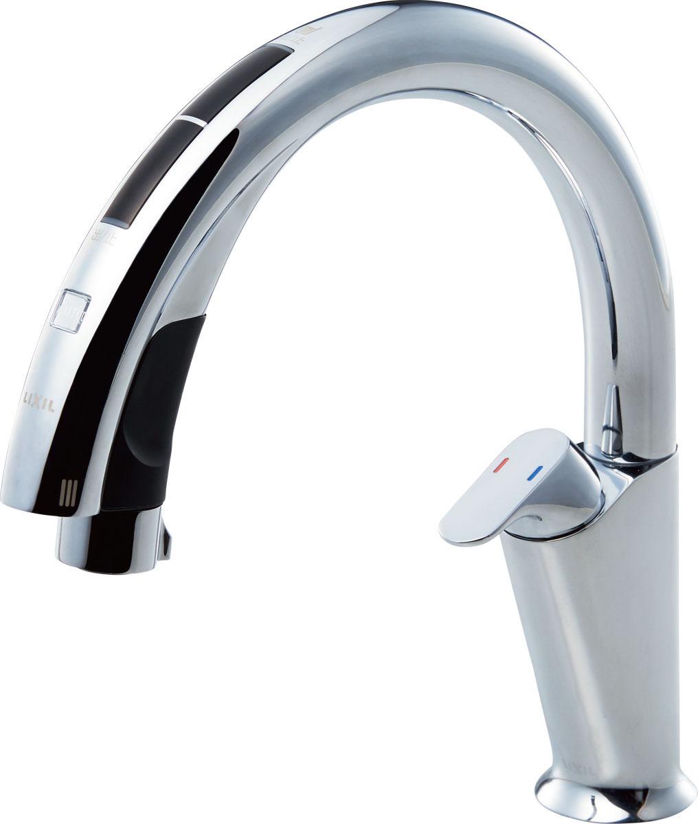 INAX LIXIL キッチン水栓 JF-NA411S (JW) キッチン用タッチレス水栓 ナビッシュハンズフリー (浄水器ビルトイン型) A10タイプ イナックス リクシル