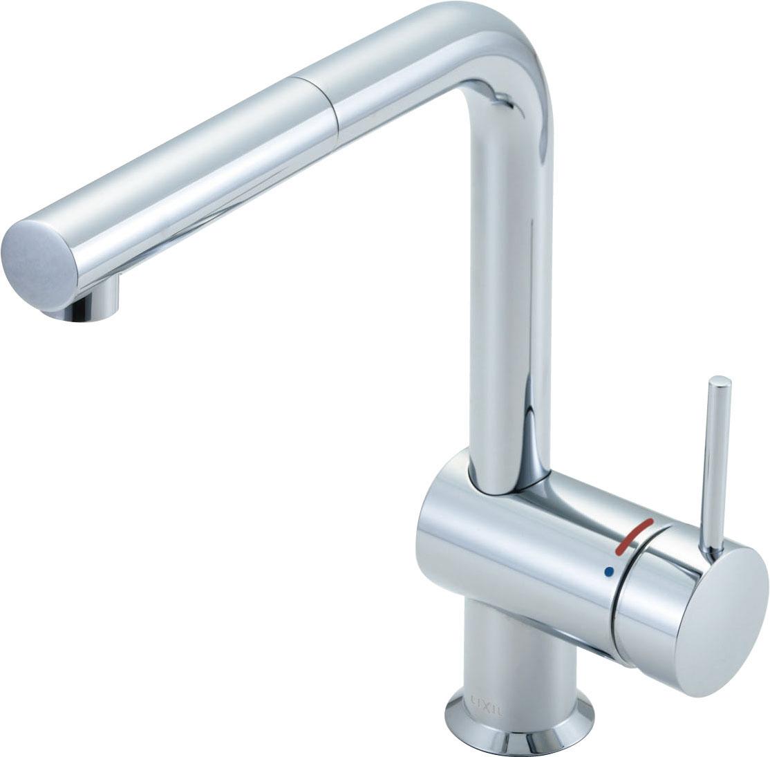 INAX LIXIL キッチン水栓 SF-E546SY 吐水口引出式水栓 ワンホールタイプ ホース引出しタイプ eモダン Lタイプ (エコハンドル) イナックス・リクシル