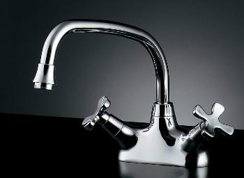 カクダイ 2ハンドル混合栓 【151-210】 水道材料