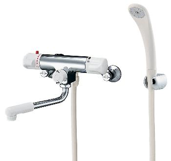 (逆配管) 173-132K カクダイ シャワー混合水栓サーモスタット シャワー混合栓 水栓金具・水道材料