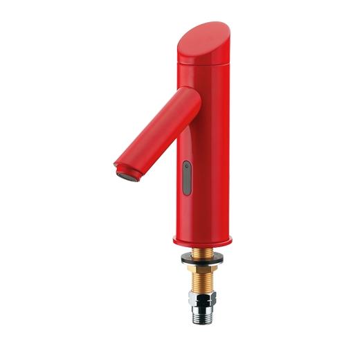 カクダイ[KAKUDAI] 【713-370-R】 センサー水栓//レッド 水栓金具 センサー水栓バッテリー電磁弁内蔵