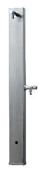 ステンレス水栓柱//ヘアライン仕上げ 【624-107】 水道材料 カクダイ