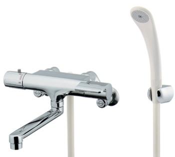 173-061 バス シャワー水栓 壁付 浴室 水栓金具 混合栓 水道材料 カクダイ シャワー混合水栓サーモスタット シャワー混合栓