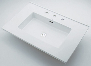 角型洗面器 【493-091 (3ホール)】 カクダイ