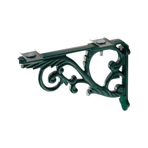カクダイ ブラケット 鋳鉄、緑色塗装 250-005-G 水道材料