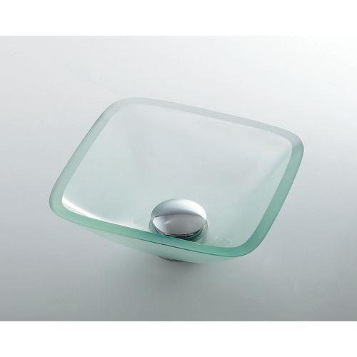カクダイ ガラス角型手洗器 クリア 493-029-C 水道材料
