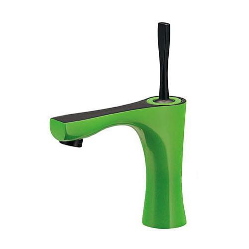 カクダイ シングルレバー混合栓 ライムグリーン 受注生産品 183-231GN-GR