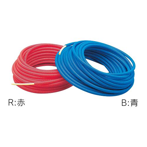 カクダイ サヤ管つき架橋ポリエチレン管 (赤) 10A×22 672-131-50R