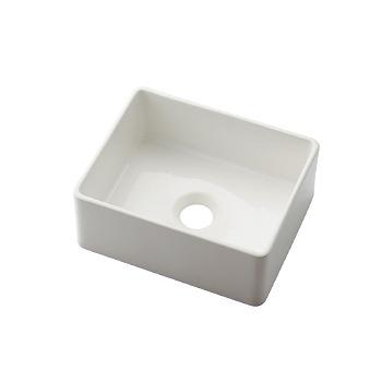カクダイ 角型手洗器 ホワイト 受注生産品【493-174-W】[新品]