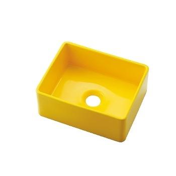 カクダイ 角型手洗器 イエロー 受注生産品【493-174-Y】[新品]