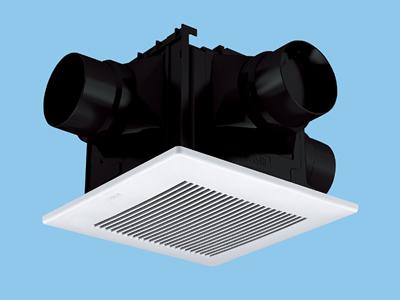 【FY-24CDT7】2~3室換気用(吸込グリル付属)パナソニック 換気扇 天井埋め込み形換気扇 樹脂製本体 ルーバーセットタイプ 埋込寸法:240mm角 適用パイプ径:φ100mm 埋込形