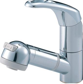 三栄水栓[SANEI] シングルスプレー混合栓(洗髪用)【K3763JV-C-13】【K3763JVC13】[新品]