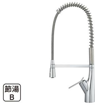 三栄水栓[SANEI] シングルワンホールスプレー混合栓【K8731JK-13】【K8731JK13】[新品]