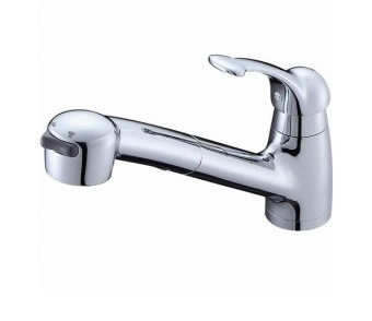 三栄水栓[SANEI] シングルワンホールスプレー混合栓【K8770JV-13】【K8770JV13】[新品]
