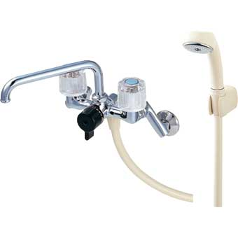 三栄水栓[SANEI] ツーバルブシャワー混合栓【CSK211-13】【CSK21113】[新品]