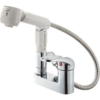 三栄水栓[SANEI] シングルスプレー混合栓(洗髪用)【K37100K-13】【K37100K13】[新品]