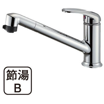 三栄水栓[SANEI] シングルワンホールスプレー混合栓【K87101JV-13】【K87101JV13】[新品]