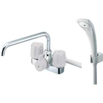 三栄水栓[SANEI] ツーバルブデッキシャワー混合栓【SK71K-LH-13】【SK71KLH13】[新品]