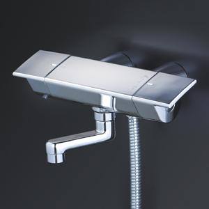 【KF3050WGN】KVK ケーブイケー サーモスタット式シャワー・スカートソケット仕様(80mmパイプ付)