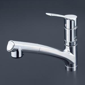 【KM5021TTN】KVK ケーブイケー 流し台用シングルレバー式シャワー付混合栓
