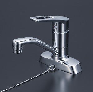 【KM7004TGS】KVK ケーブイケー 洗面用シングルレバー式混合栓 ゴム栓付