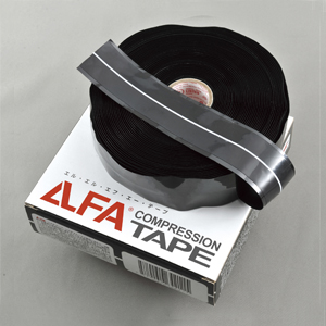 R1-5-8ABLJP-K KVK ケーブイケー LLFAテープ シリコーン自己融着テープ 黒