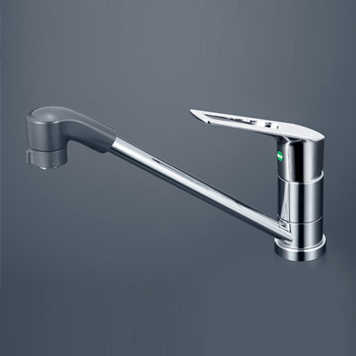 KVK 流し台用シングルレバー式シャワー付混合栓(eレバー) 【KM5011TFEC】[新品]